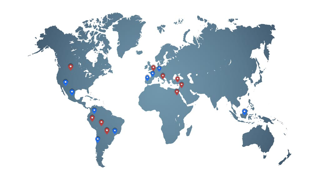Clients and Distributors Map